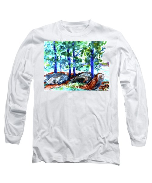 Summer By The Lake Long Sleeve T-Shirt by Jan Bennicoff