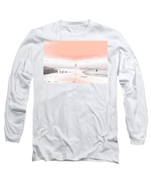Pastel Sunrise Beach Long Sleeve T-Shirt