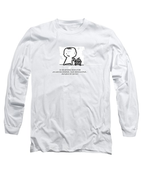 Long Sleeve T-Shirt featuring the drawing Sweetest Fruit by Leanne Wilkes