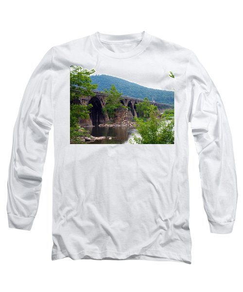 The Great Old Bridge Long Sleeve T-Shirt by Robert Margetts