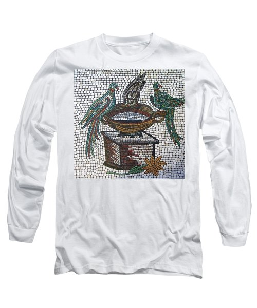 Long Sleeve T-Shirt featuring the painting The Hang Out by Cynthia Amaral