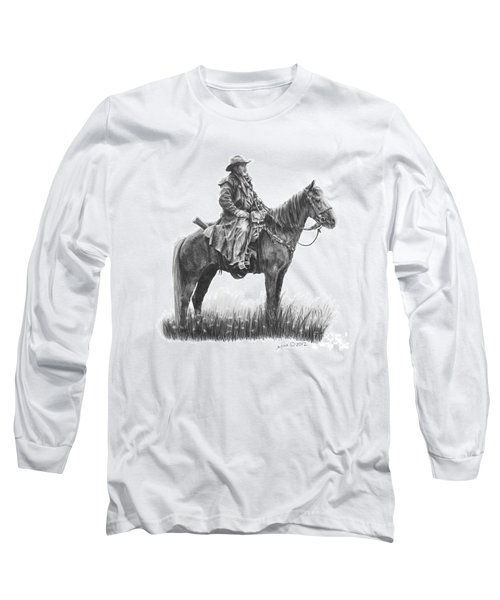 Long Sleeve T-Shirt featuring the drawing the Quest by Marianne NANA Betts