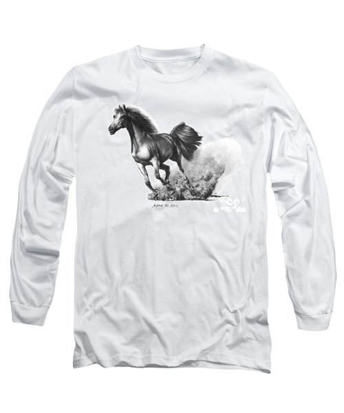 the Race is on  Long Sleeve T-Shirt by Marianne NANA Betts
