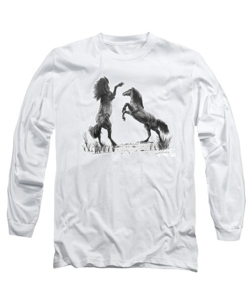 Long Sleeve T-Shirt featuring the drawing the Stand by Marianne NANA Betts