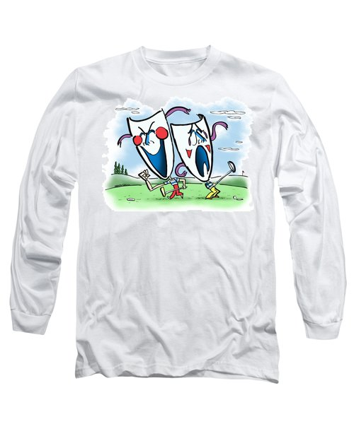 The Two Faces Of Golf Long Sleeve T-Shirt