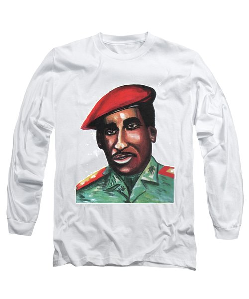 Thomas Sankara Long Sleeve T-Shirt by Emmanuel Baliyanga