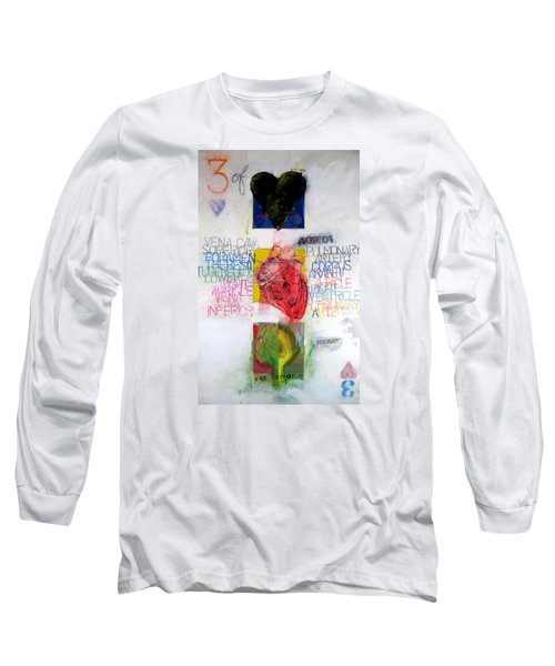 Long Sleeve T-Shirt featuring the painting Three Of Hearts 32-52 by Cliff Spohn