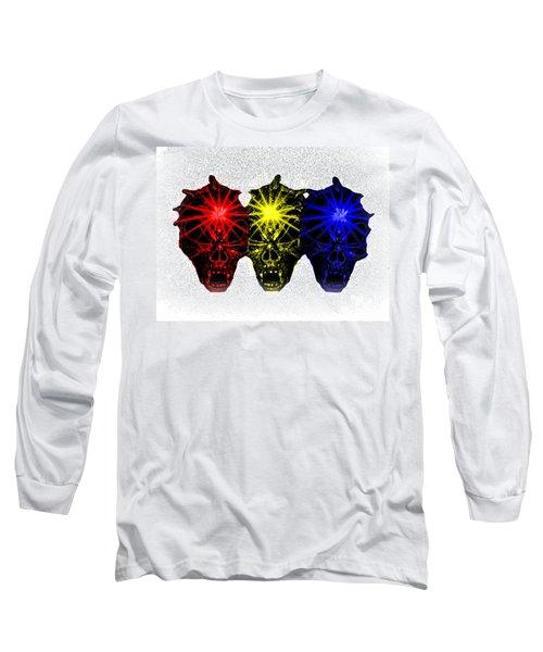 Long Sleeve T-Shirt featuring the photograph Three Skulls by Blair Stuart
