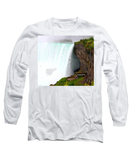 Long Sleeve T-Shirt featuring the photograph Thundering Force by Davandra Cribbie