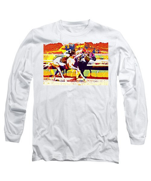 Long Sleeve T-Shirt featuring the photograph To The Finish by Alice Gipson