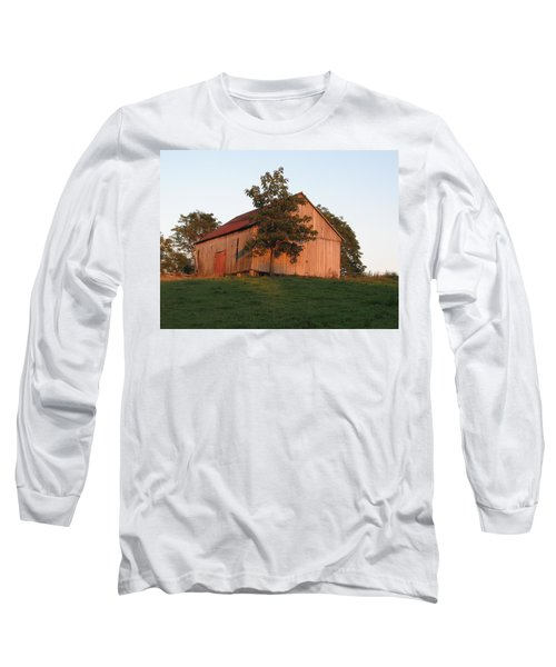 Tobacco Barn II In Color Long Sleeve T-Shirt by JD Grimes