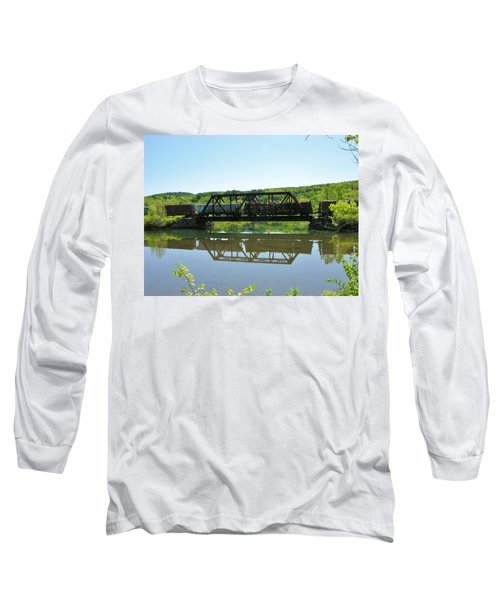 Long Sleeve T-Shirt featuring the photograph Train And Trestle by Sherman Perry