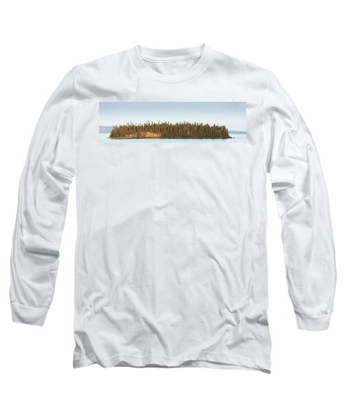 Trees Covering An Island On Lake Long Sleeve T-Shirt