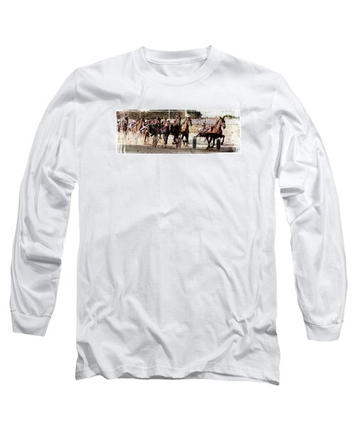 Long Sleeve T-Shirt featuring the photograph Trotting 3 by Pedro Cardona