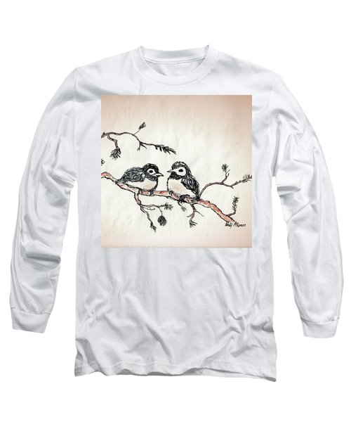 Two Birds Long Sleeve T-Shirt by Wendy McKennon