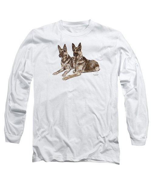 Two Of A Kind - German Shepherd Dogs Print Color Tinted Long Sleeve T-Shirt