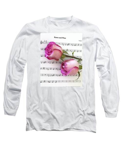 Two Red Roses And Wine Long Sleeve T-Shirt