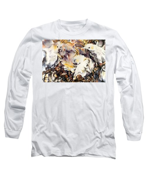 Long Sleeve T-Shirt featuring the painting Two's Company by Rae Andrews