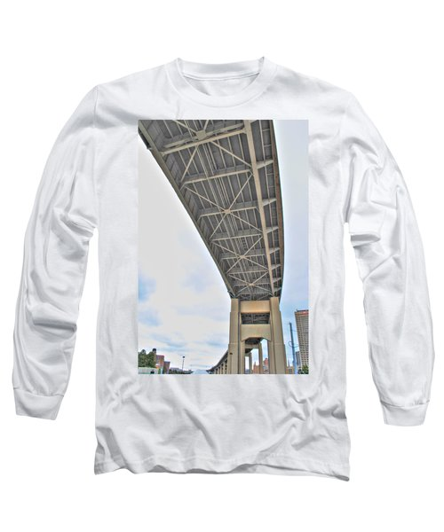 Long Sleeve T-Shirt featuring the photograph Under The Skyway by Michael Frank Jr