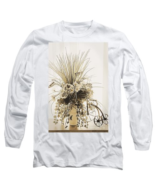 Vase With Flowers On A Window Table Long Sleeve T-Shirt