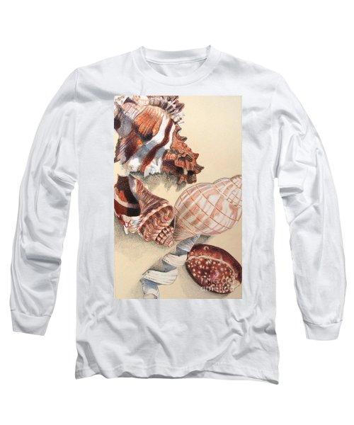 Vertical Conch Shells Long Sleeve T-Shirt