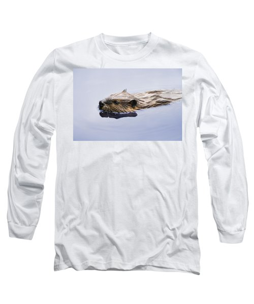 View Of Beaver, Chaudiere-appalaches Long Sleeve T-Shirt by Yves Marcoux