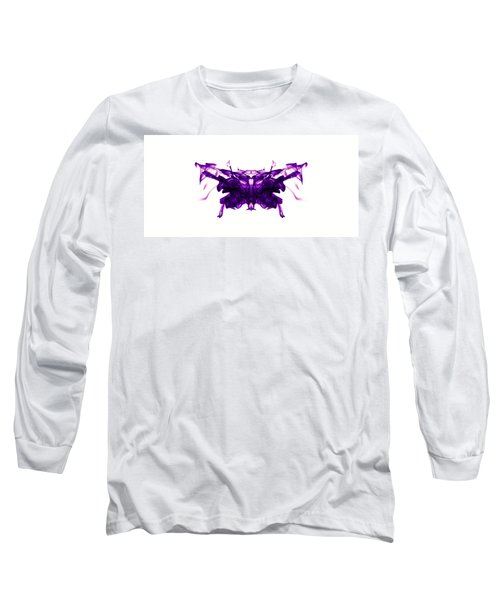 Violet Abstract Butterfly Long Sleeve T-Shirt