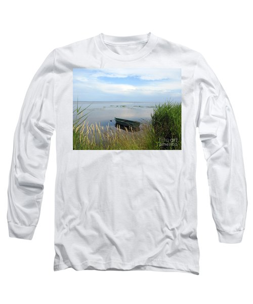 Long Sleeve T-Shirt featuring the photograph Waiting For The Nightshift by Ausra Huntington nee Paulauskaite