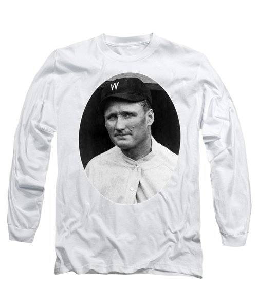 Long Sleeve T-Shirt featuring the photograph Walter Johnson - Washington Senators Baseball Player by International  Images
