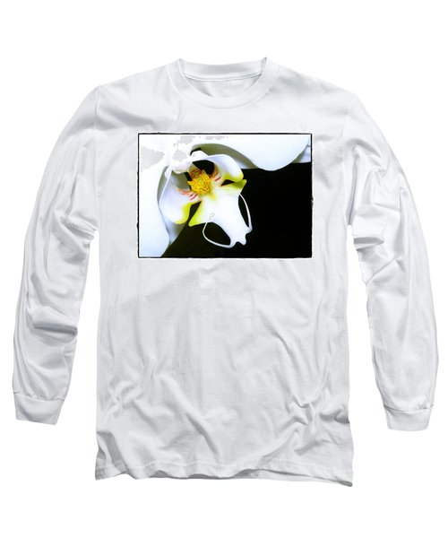 White Elegance Long Sleeve T-Shirt by Judi Bagwell