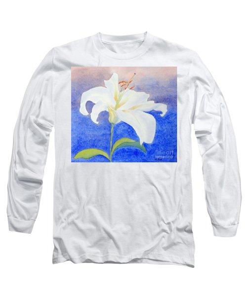 White Lily Long Sleeve T-Shirt