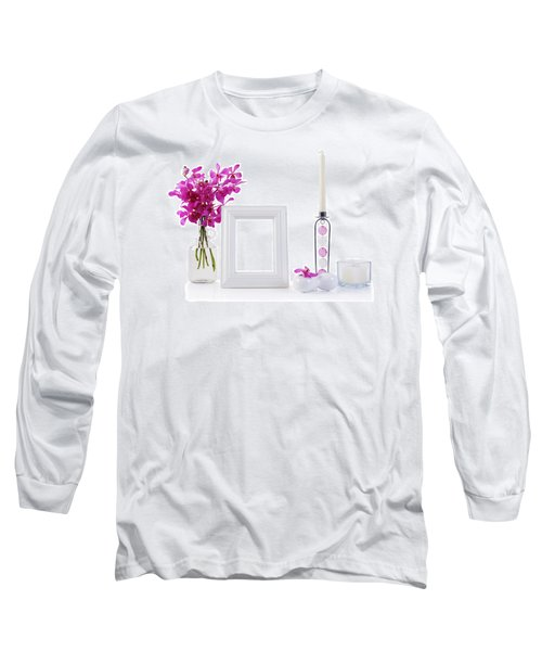 White Picture Frame In Decoration Long Sleeve T-Shirt by Atiketta Sangasaeng