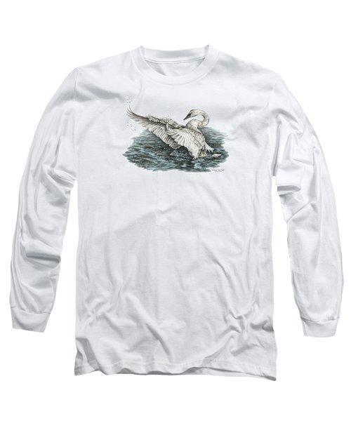 White Swan - Dreams Take Flight-tinted Long Sleeve T-Shirt