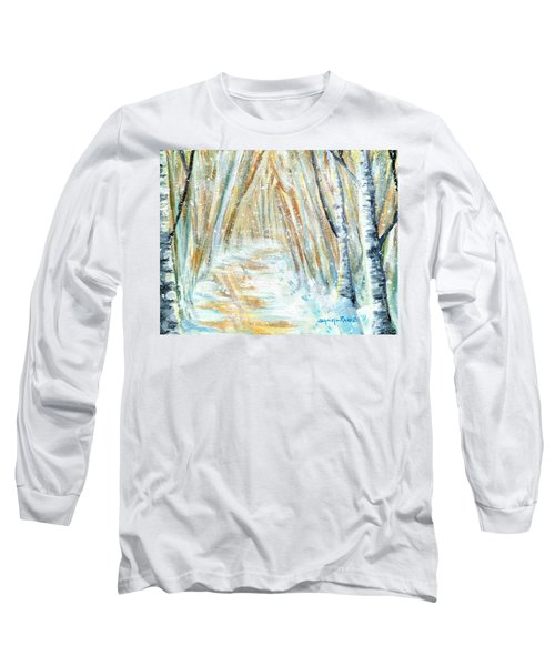 Long Sleeve T-Shirt featuring the painting Winter by Shana Rowe Jackson