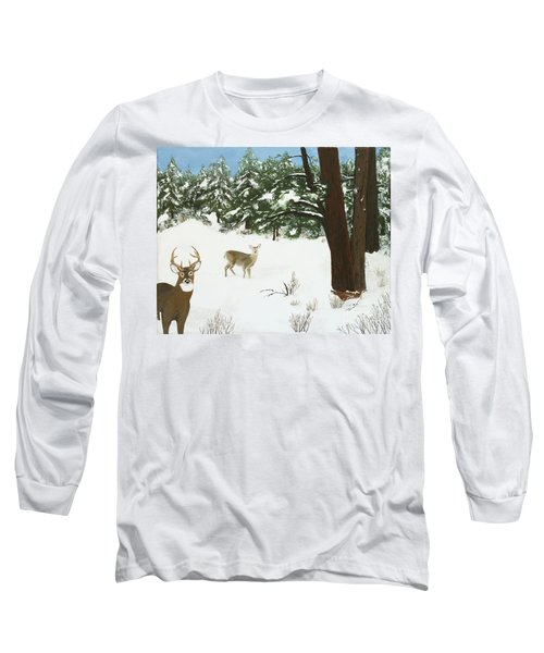 Wintering Whitetails Long Sleeve T-Shirt