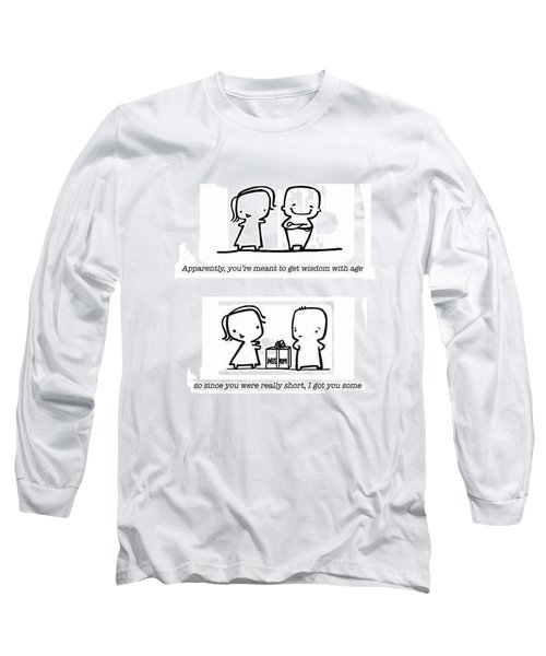 Long Sleeve T-Shirt featuring the drawing Wisdom by Leanne Wilkes