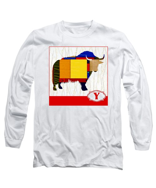 Y Is For Yak Long Sleeve T-Shirt by Elaine Plesser