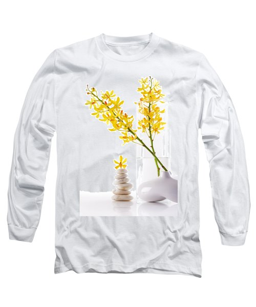 Yellow Orchid Bunchs Long Sleeve T-Shirt