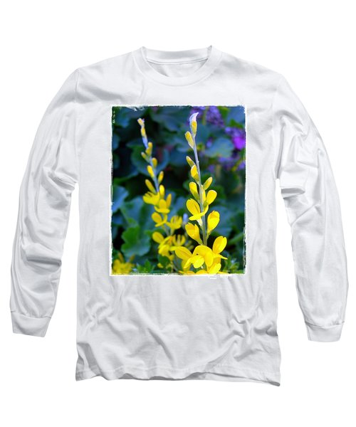 Yellow Plumes Long Sleeve T-Shirt by Judi Bagwell