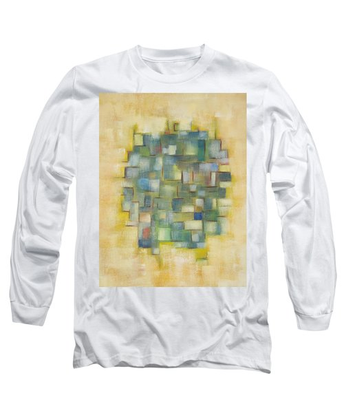 Yellow With Green  Long Sleeve T-Shirt by Patricia Cleasby