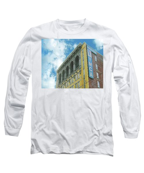 Long Sleeve T-Shirt featuring the photograph Ymca by Lizi Beard-Ward