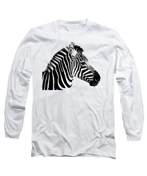 Long Sleeve T-Shirt featuring the photograph Zebra by Rebecca Margraf