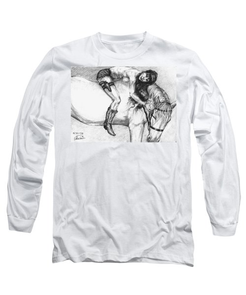 Cowgirl Riding A Hourse Long Sleeve T-Shirt
