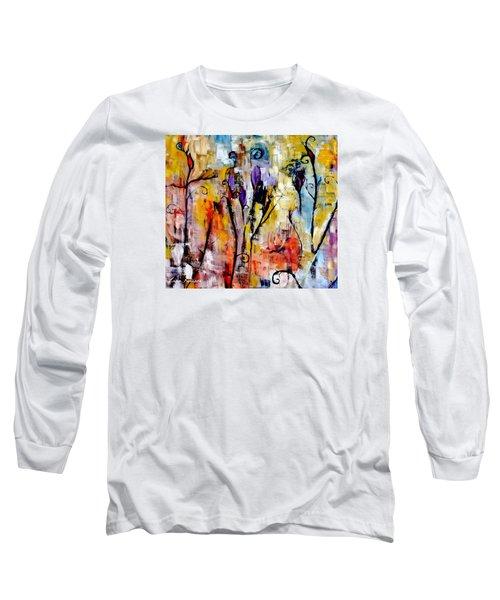 Crazy Messy Fall Yard Art Long Sleeve T-Shirt by Lisa Kaiser