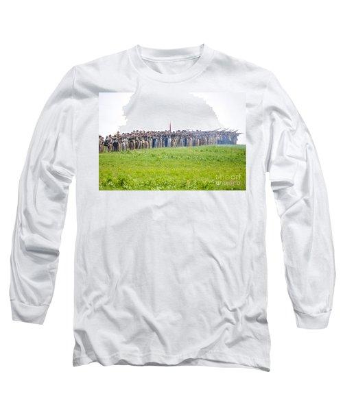 Gettysburg Confederate Infantry 0157c Long Sleeve T-Shirt
