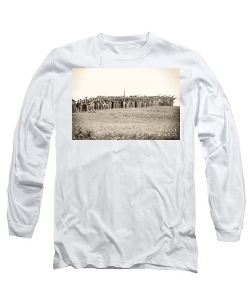 Gettysburg Confederate Infantry 0157s Long Sleeve T-Shirt