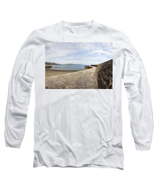 Harbour Wall Lyme Bay Dorset Long Sleeve T-Shirt