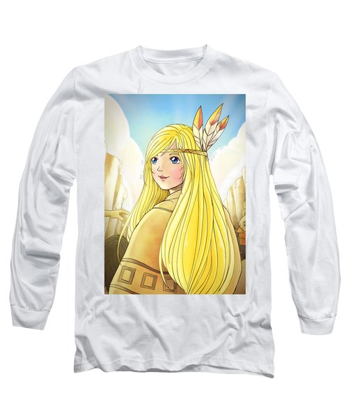 Indian Princess Tammy Long Sleeve T-Shirt by Reynold Jay