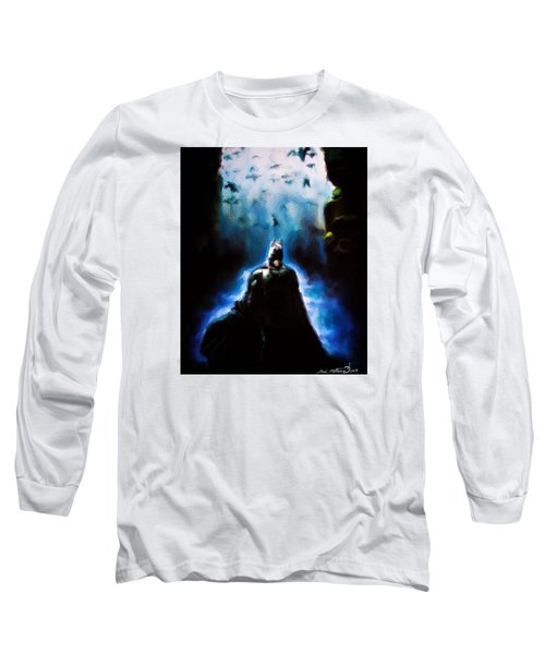 Long Sleeve T-Shirt featuring the painting  Into The Cave by Darryl Matthews