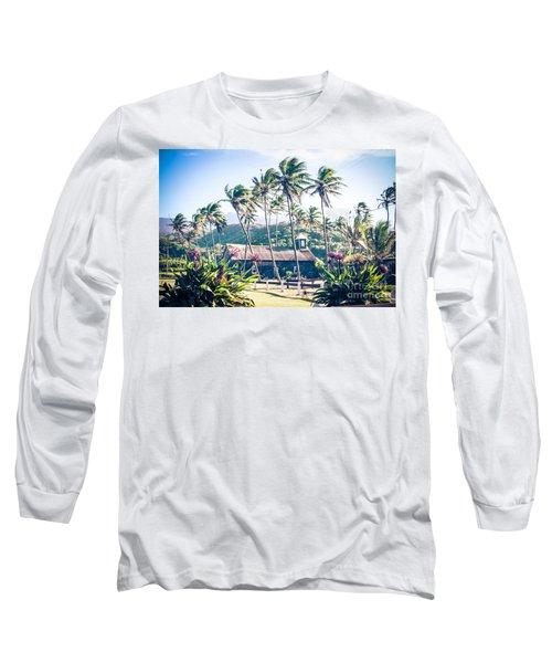 Long Sleeve T-Shirt featuring the photograph  Lanakila 'ihi'ihi O Iehowa O Na Kaua Church Keanae Maui Hawaii by Sharon Mau
